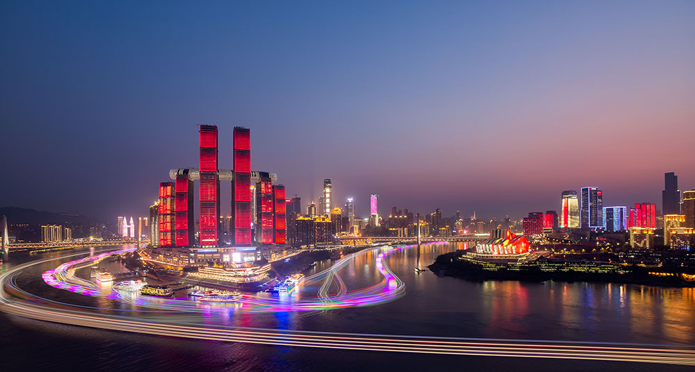 The panorama of Chongqing at night (Photo by Capitaland China).