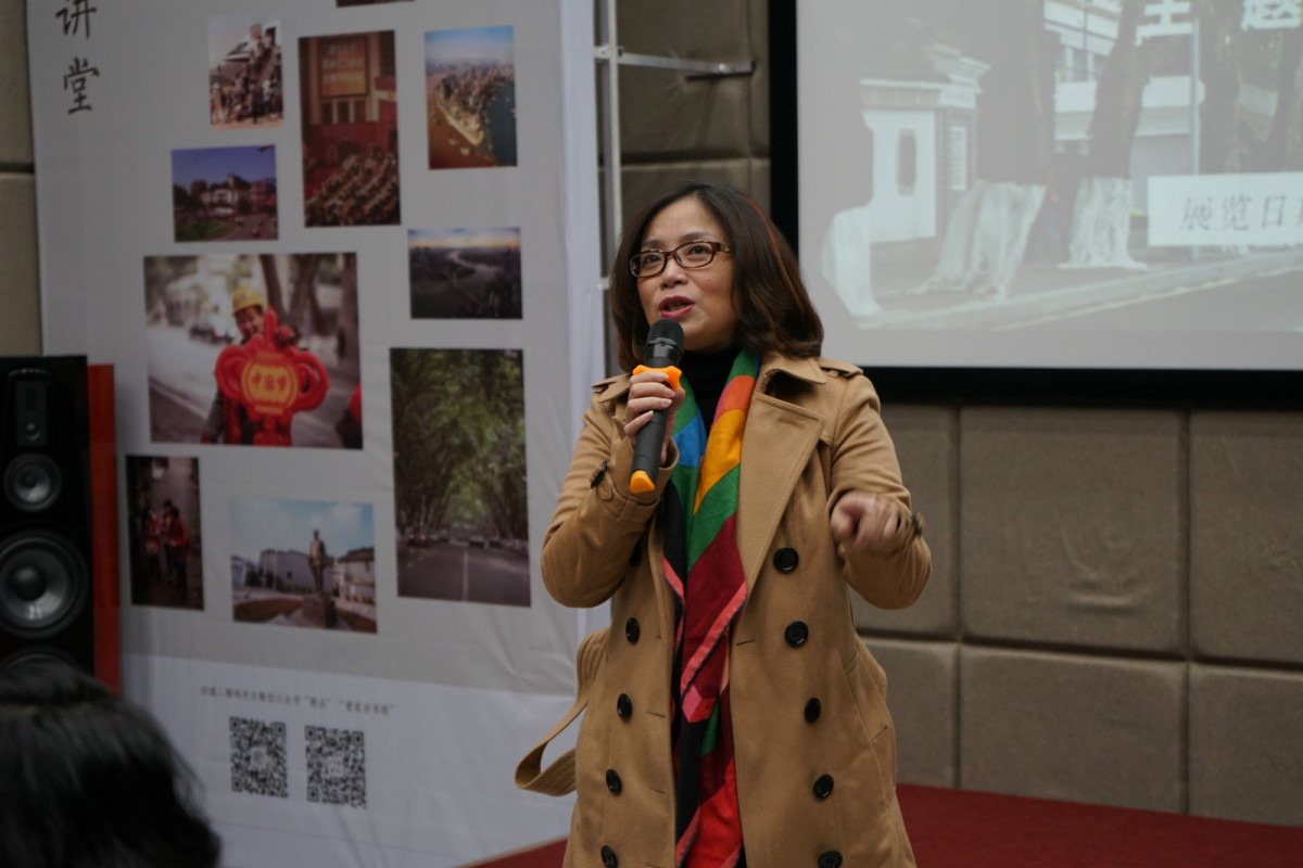 The exhibition curator
