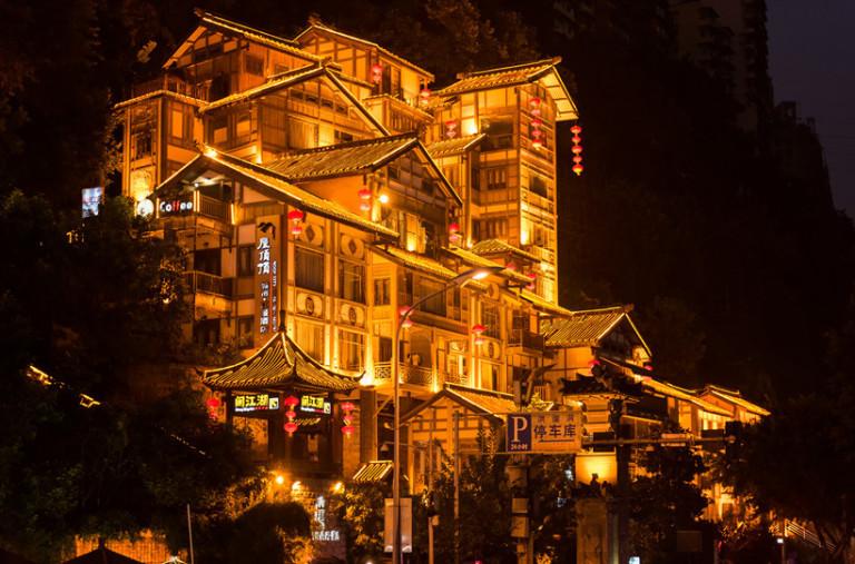 old-Chongqing-Hongya-dong-night