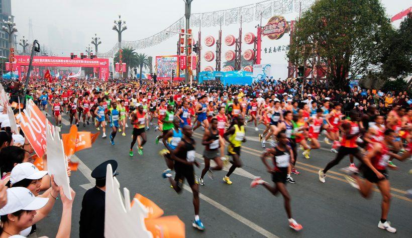 2012 Chongqing International Marathon by Shixian Hu