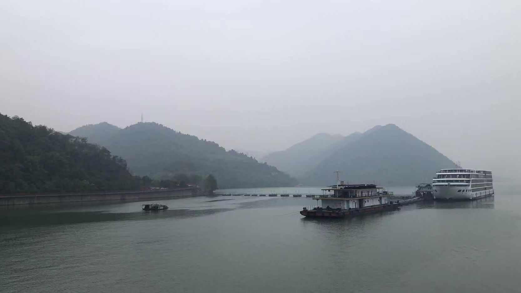 The sight along the Yangtze River
