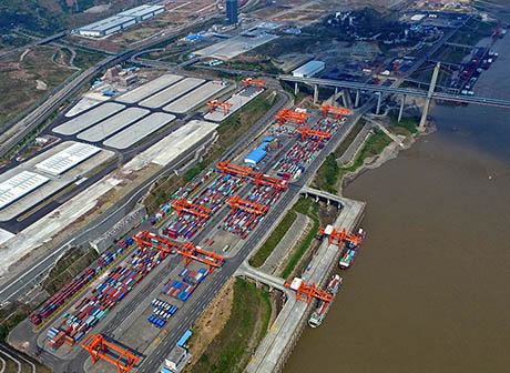 Guoyuan Port Achieved a Water Transfer Throughput of 84,000 TEUs in 10 Months
