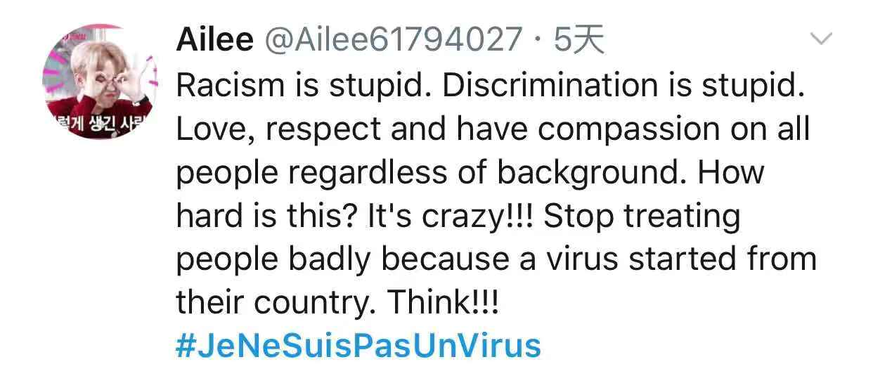 Screenshot of post onTwitter