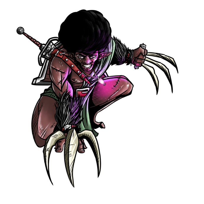 Fis the Fierce, a character from my Amos fantasy series, is my character in the D&D game we play online.