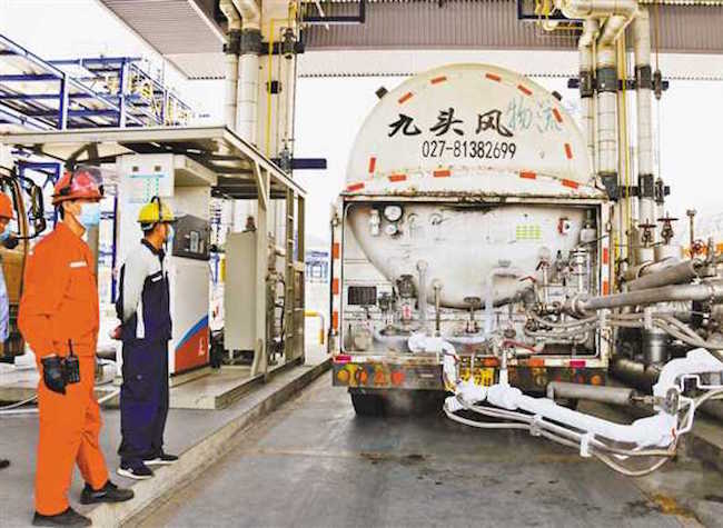 Chongqing Provides LNG for Hubei Province to Assist Production Resumption