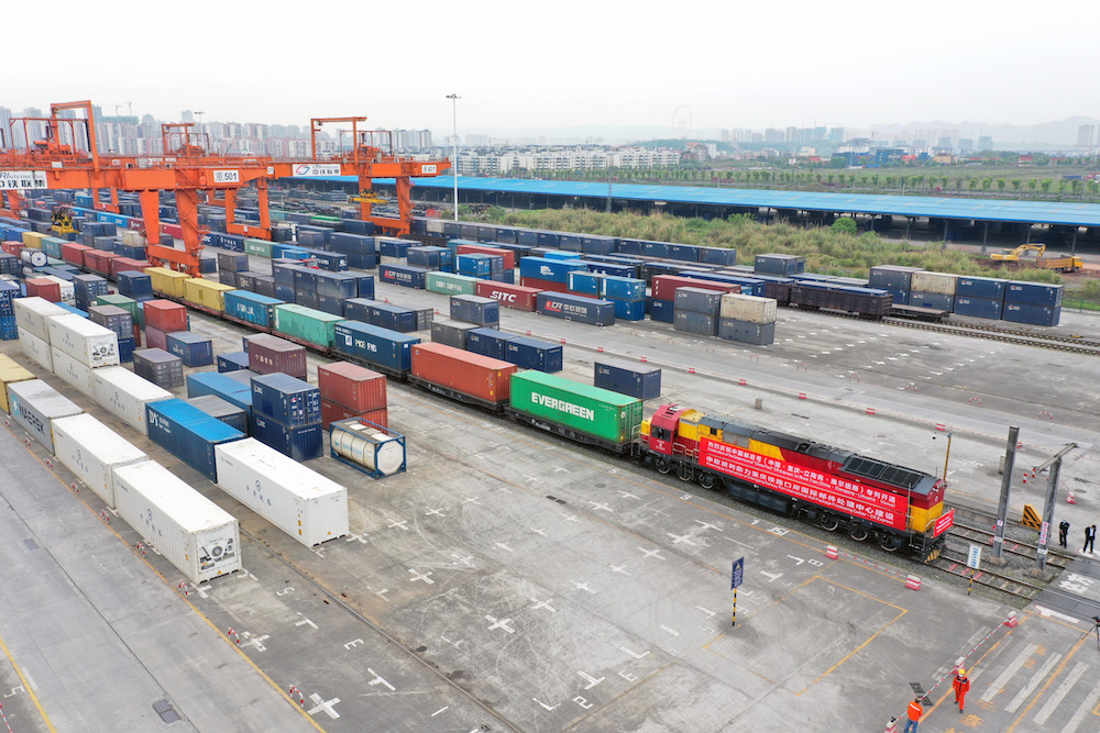 China-Europe freight train
