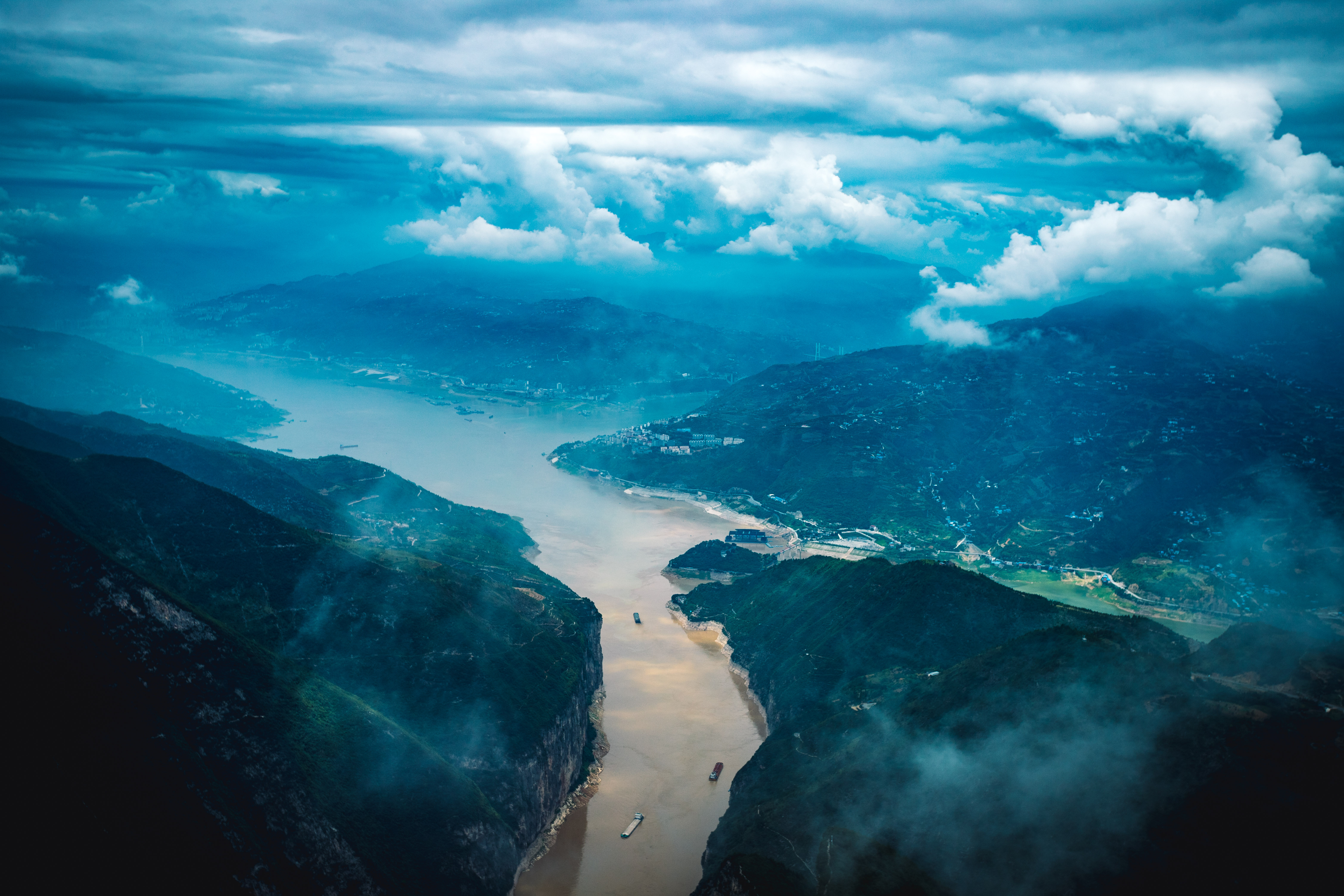 View from the observation deck on the Peak of the Three Gorges