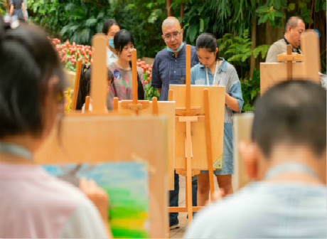 Bauhinia Cup Calligraphy and Painting Competition Opens at Nanshan Botanical Gardens
