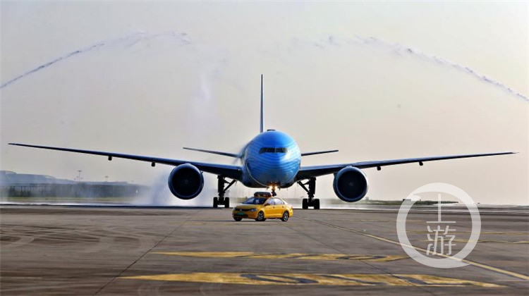 The World's First CIIE-themed Aircraft Makes its Maiden Flight to Chongqing