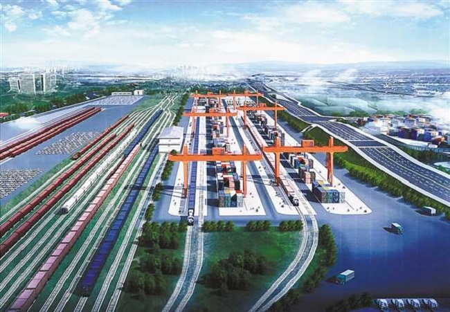 Four Major Projects Launched at Logistics Hub of Guoyuan Port