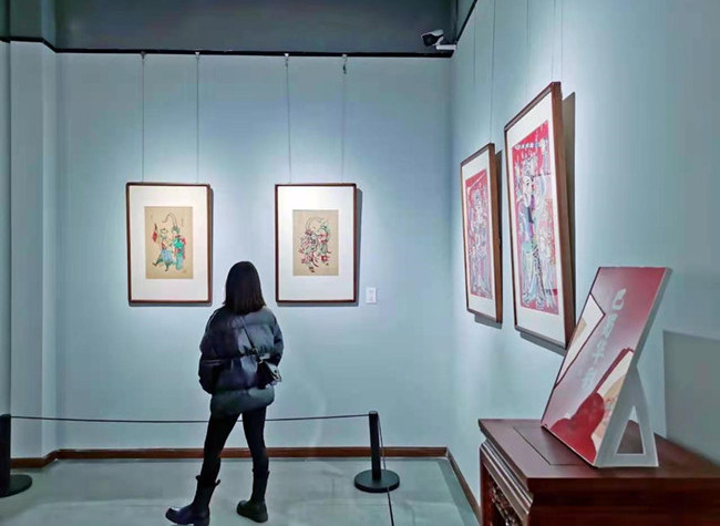 Chinese New Year Paintings on Exhibition at Yubei District