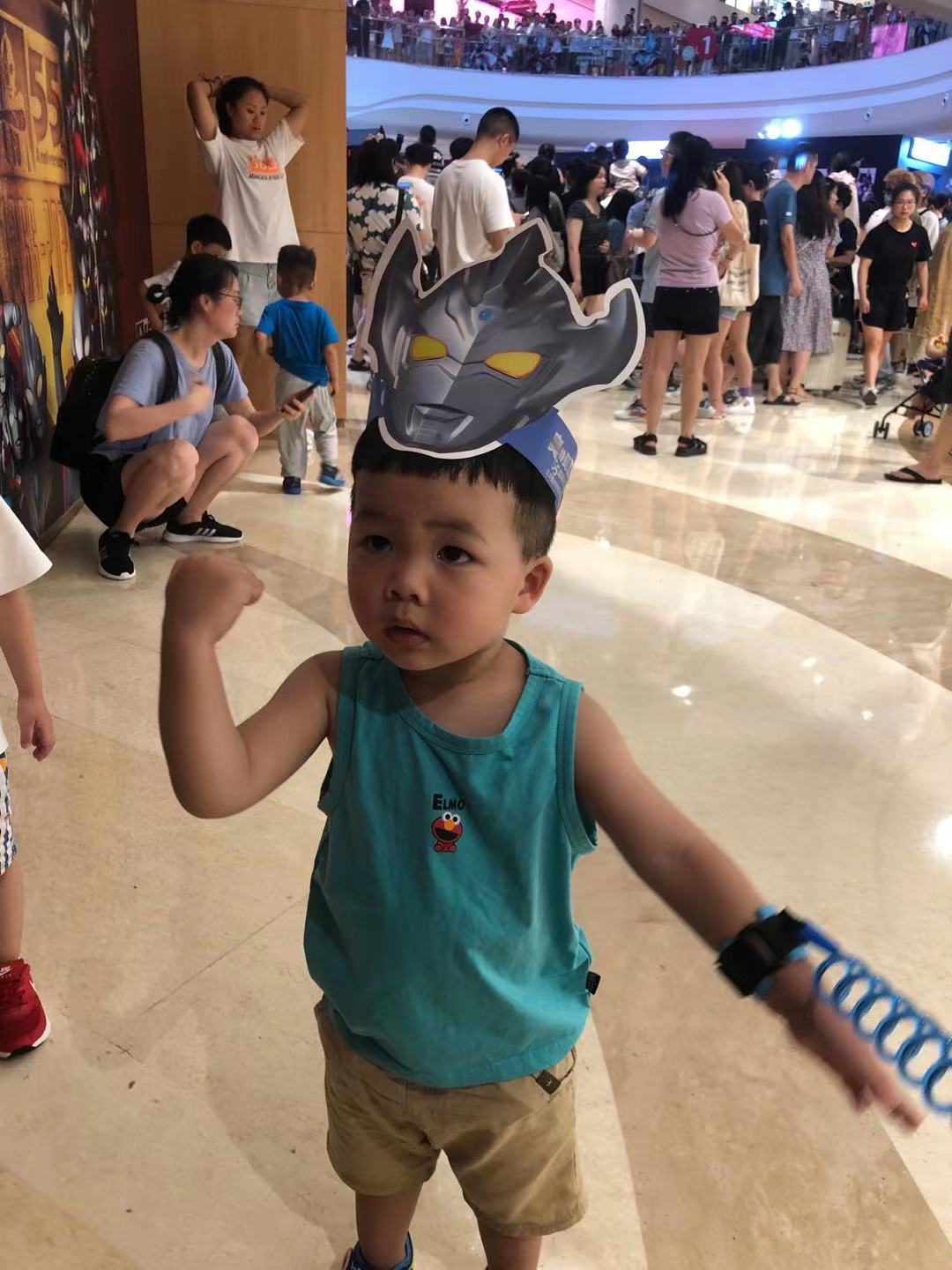 Ethan at the Ultraman 55 year anniversary exhibition in Chongqing.