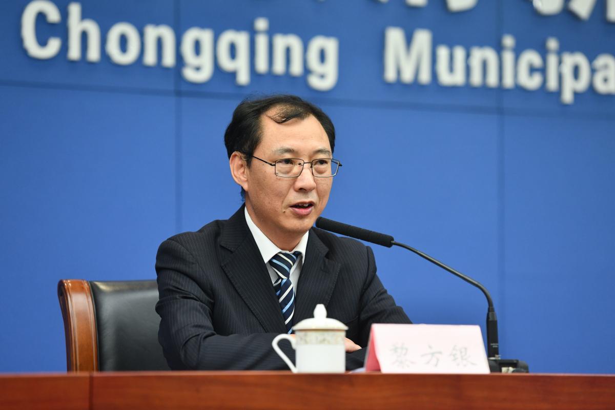 Li Fangyin, head of the Dazu Rock Carvings Research Institute in the press conference(Photo/Zhou Yue)