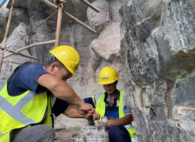 Emergency Reinforcement of Baodingshan Enchantment Statues Speeds Up