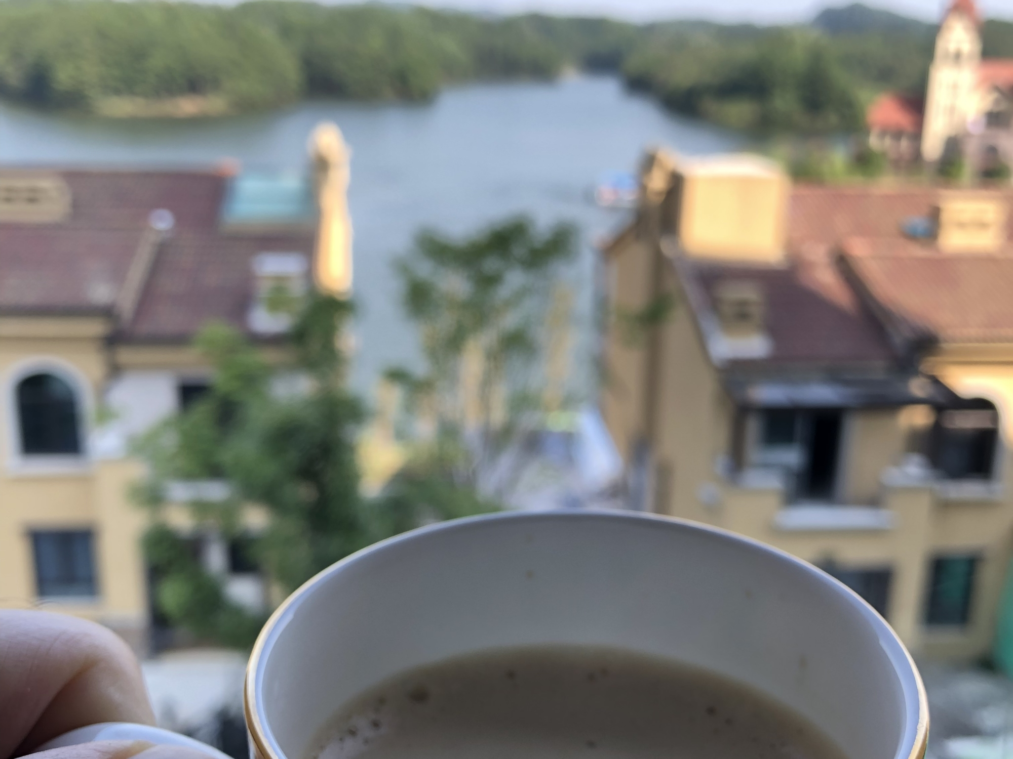 Waking up to a cappuccino coffee and this view felt like it took 5 years of stress off of my life.